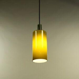 Pendel-Leuchte-Glas-Gruen-Daenemark-Flaschen-Kolben-Lampe-Vintage-60er-70er-Jahre