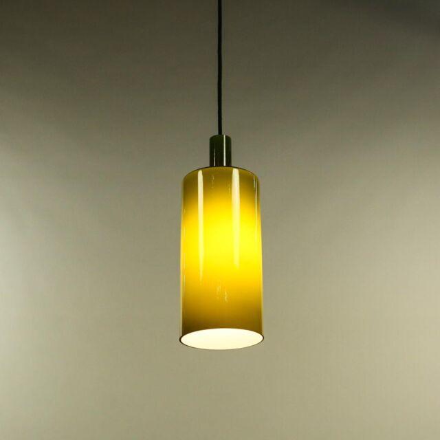 Pendel Leuchte Glas Grün Dänemark Flaschen Kolben Lampe Vintage 60er 70er Jahre