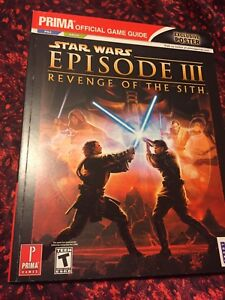 Star Wars Episode Iii 3 Revenge Of The Sith Ps2 Xbox Prima Strategy Guide Ebay