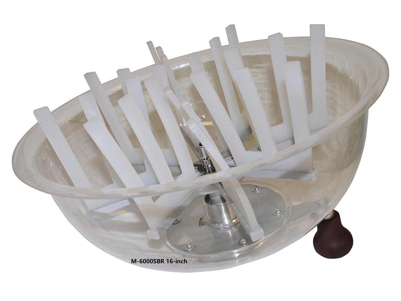 VR GROW the clean cut M-6000SBR Series Bowl Leaf Trimmer 16-inch Hydroponic Spin