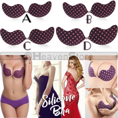 Self-adhesive Gel Invisible Bras Silicone Stick On Push Up Backless Straples Bra
