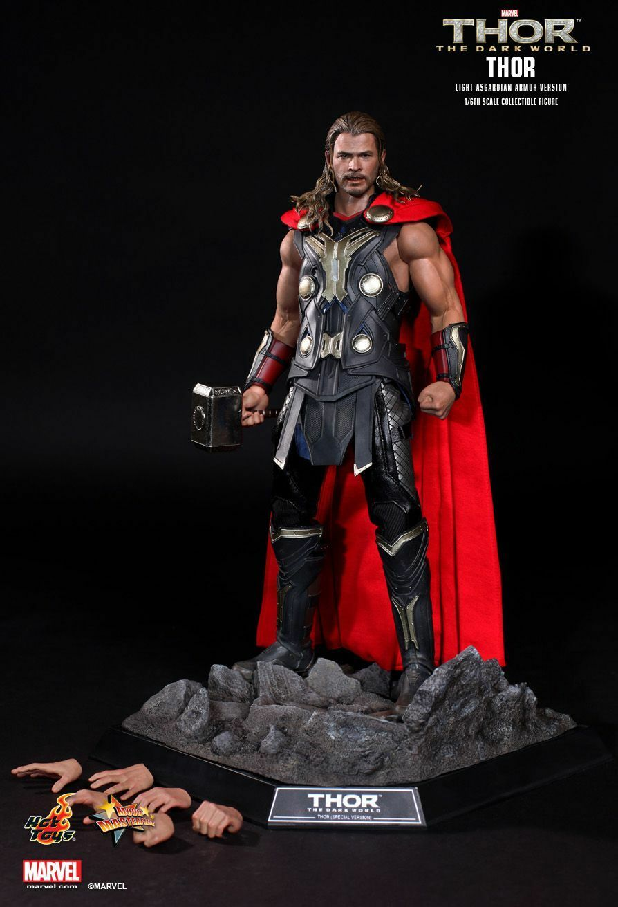 HOT TOYS 1/6 MARVEL THOR THE DARK WORLD MMS225 LIGHT ASGARDIAN ARMOR FIGURE