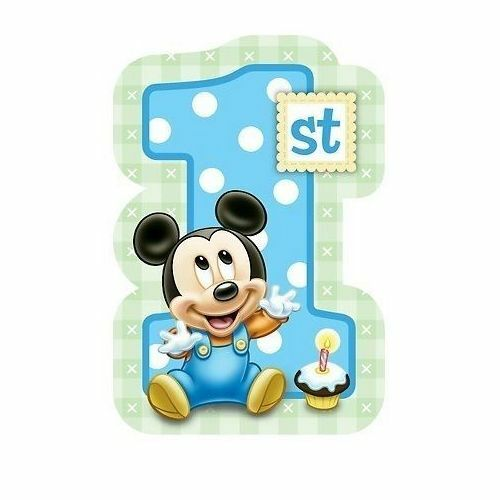 8 x Mickey Mouse 1st/First Birthday Party Invitations With Envelopes & Seals