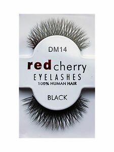 RED-CHERRY-DM-14-KUNSTLICHE-UNECHTE-WIMPERN-EYELASHES-boDY-SIGN