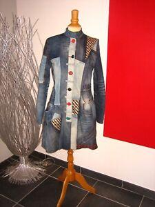 Manteau En Desigual Et Jean Original Coat Tissus T Brodés Patchvvork 6dawapFq