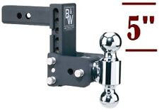"""B&W Tow & Stow Double Ball Adjustable Receiver Hitch 2"""" & 2-5/16"""", TS10037B"""