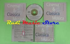 CD CINEMA & CLASSICA MUSICA compilation PROMO 1994 MOZART PUCCINI STRAUSS (C22*)