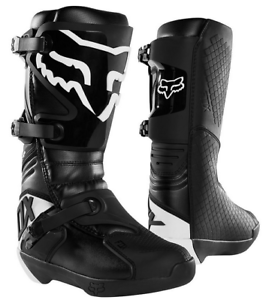 2020 FOX RACING MENS BLACK COMP MX MOTORCYCLE BOOTS SIZE 10