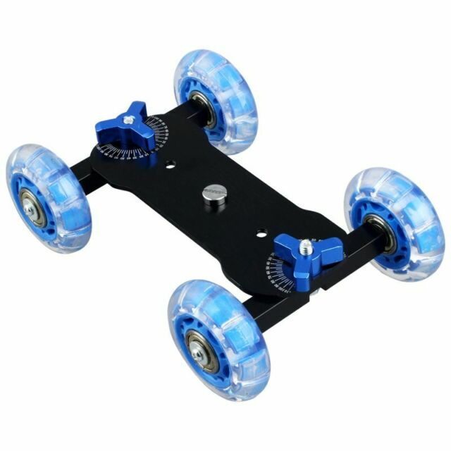 Table Top Dolly Mini Car Skater Track Slider Super Mute for DSLR Camera Cam K6L9