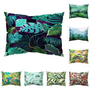 Am-New-Tropical-Plant-Flower-Bird-Pillow-Case-Cushion-Cover-Sofa-Car-Office-Dec