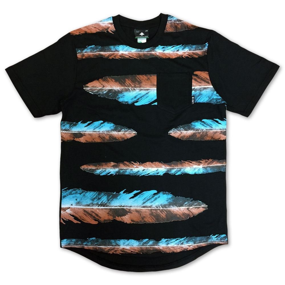LRG War Feather Scoop Knit T-shirt T-shirt T-shirt Schwarz 7e076f