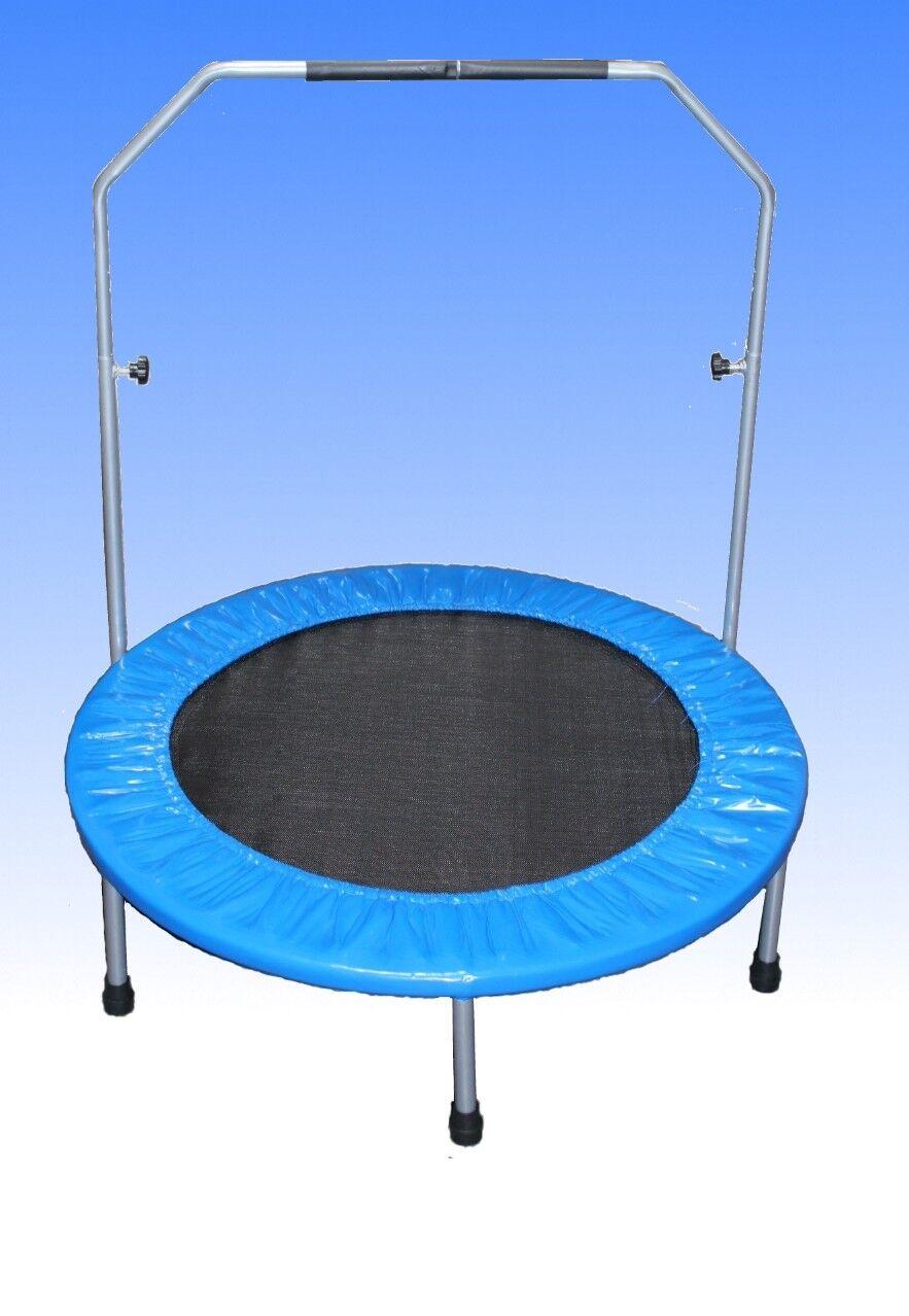 Trampolino 100 Cm Fitness Fitness Fitness Mini trampolino Fun jumping TONDO 1m copertura bordo 0adeb5