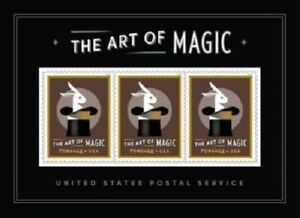USA-NEW-Art-of-Magic-2018-MNH-Souvenir-Sheet-Forever-Stamps-White-Rabbit-Hat