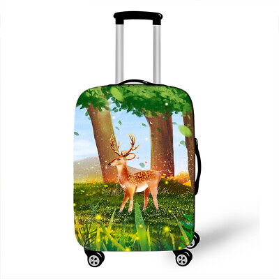Travel Luggage Cover Christmas Tree Travel Luggage Cover Suitcase Protector Fits 26-28 Inch Washable Baggage Covers