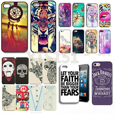 Fashion Cute Fuuny Design Pattern Case Cover Back Protector For iPhone 4S 5S