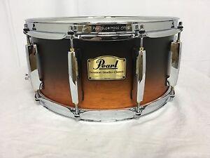Pearl-Session-Studio-Classic-14-034-X-6-5-034-Snare-Drum-Black-amp-Tan-Finish-307-NEW