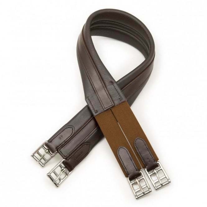 Jefferies Wembley Vagabond Elasticated Brown Leather Girth In Size  48   team promotions