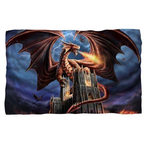 New 58x36 Dragon/'s Fury Anne Stokes Fleece Throw Gift Blanket Medieval Dragon