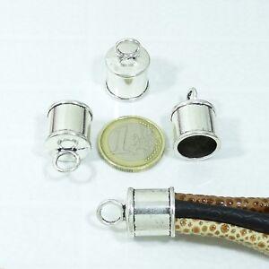 39 Terminales Para Cordón 12x8mmT421A Plata Tibetano End Caps Beads Perline