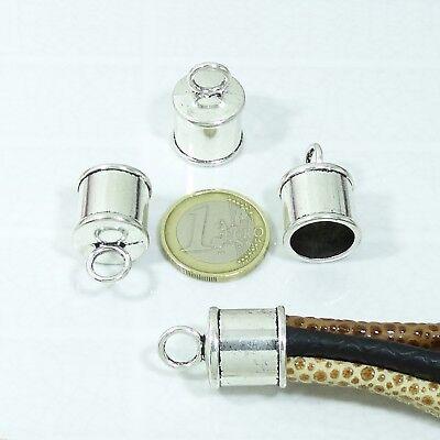19 Terminales Para Cordón 15x13mmT430C Plata Tibetano End Caps Beads Perline