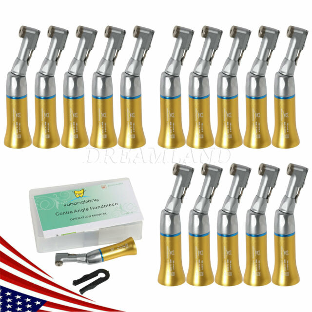 15Pcs Gold Yabang Dental Low Slow Speed Handpiece Contra Angle Fit NSK