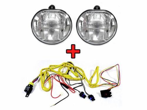 DEPO 96-00 Chrysler Sebring Convertible Replacement Fog Light Set+Wiring Harness