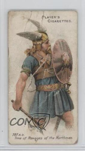 1909 Player's Arms & Armour Tobacco Base #7 A Viking NonSports Card a8x