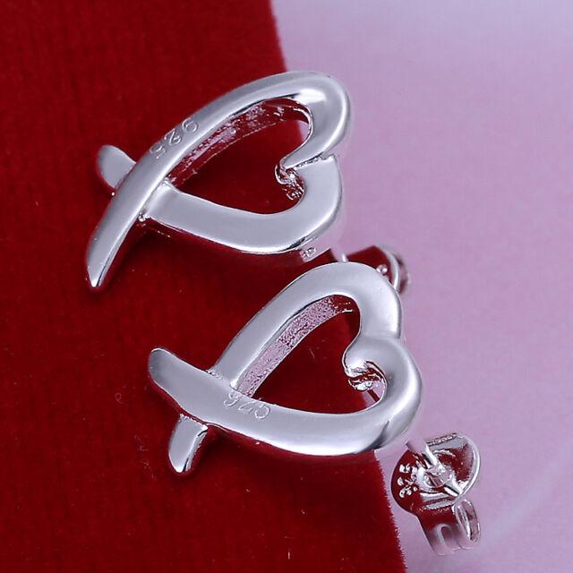 Free shipping wholesale sterling solid silver fashion kelp stud Earrings XLSE055