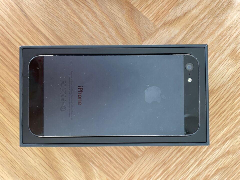 iPhone 5, 16 GB, sort