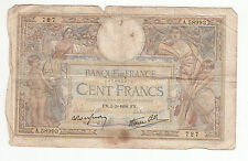 BILLET FRANCE  100  FRANCS   MERSON  5 / 5 / 1938  FN