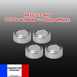 Lot-4-Piles-bouton-LR44-AG13-G13-A-D303-L1154-L1154F-EPX76-A76-RW82-357-SR44