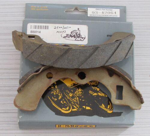 EMGO Rear Brake Shoes for Kawasaki KAF450 KAF540 KAF620 KAF950 Mule 2014 /& befor