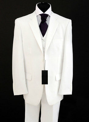 MENS BRILLIANT WHITE SUIT JACKET ONLY WEDDINGS/PROMS/FANCY DRESS