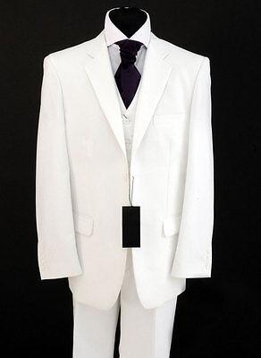 MENS BRILLIANT WHITE SUIT SALE IDEAL FOR WEDDINGS/PROMS/FANCY DRESS