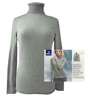 Tchibo TCM Damen Rollkragenpullover Feinstrick Pullover Pulli Rolli S 36//38