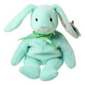 Hoppity Easter Bunny Green- TY Beanie Baby Retired Rare Mint Condition Tags MWMT