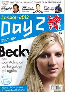 OLYMPIC GAMES DAY 2 TWO DAILY PROGRAMME LONDON 2012
