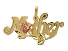 """14K Solid Yellow & Rose Gold """"Mother"""" Pendant/Charm"""