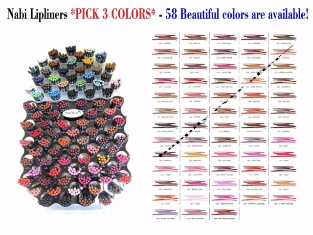 Nabi Long Pencil Lip Liners *PICK 3 COLORS* add me a message when purchase :)