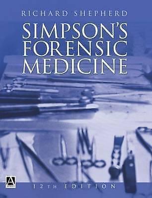 Simpson's Forensic Medicine (Hodder Arnold Publication)-ExLibrary