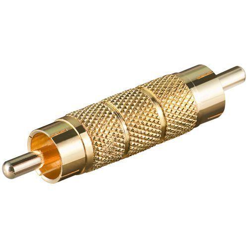 Audio Adapter Kupplung Cinch Stecker auf Cinch Stecker Metall Kontakte vergoldet