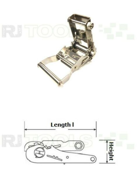 Spannratsche - Ratschen für 36 mm gurt - Edelstahl - 931368 - 1 stück
