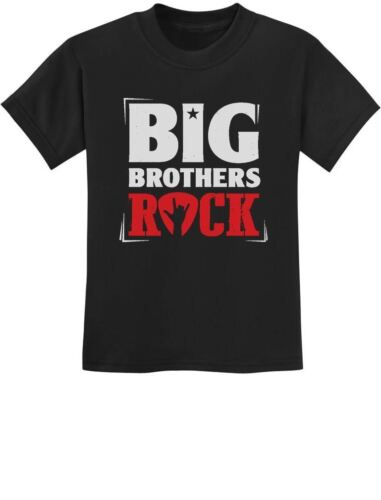 Boys Big Brothers Rock Best Siblings Gift Youth Kids T-Shirt Cool