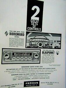 """1960 Borgward Blaupunkt Living Room Hi Fi Original Print Ad 8.5 x 11"""""""