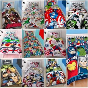 Marvel-Comics-Avengers-Single-Double-Bedding-Set-Duvet-Superheroes