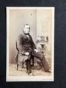 Victorian Carte De Visite CDV: Gent: Books Small Library Backdrop : King: Bath