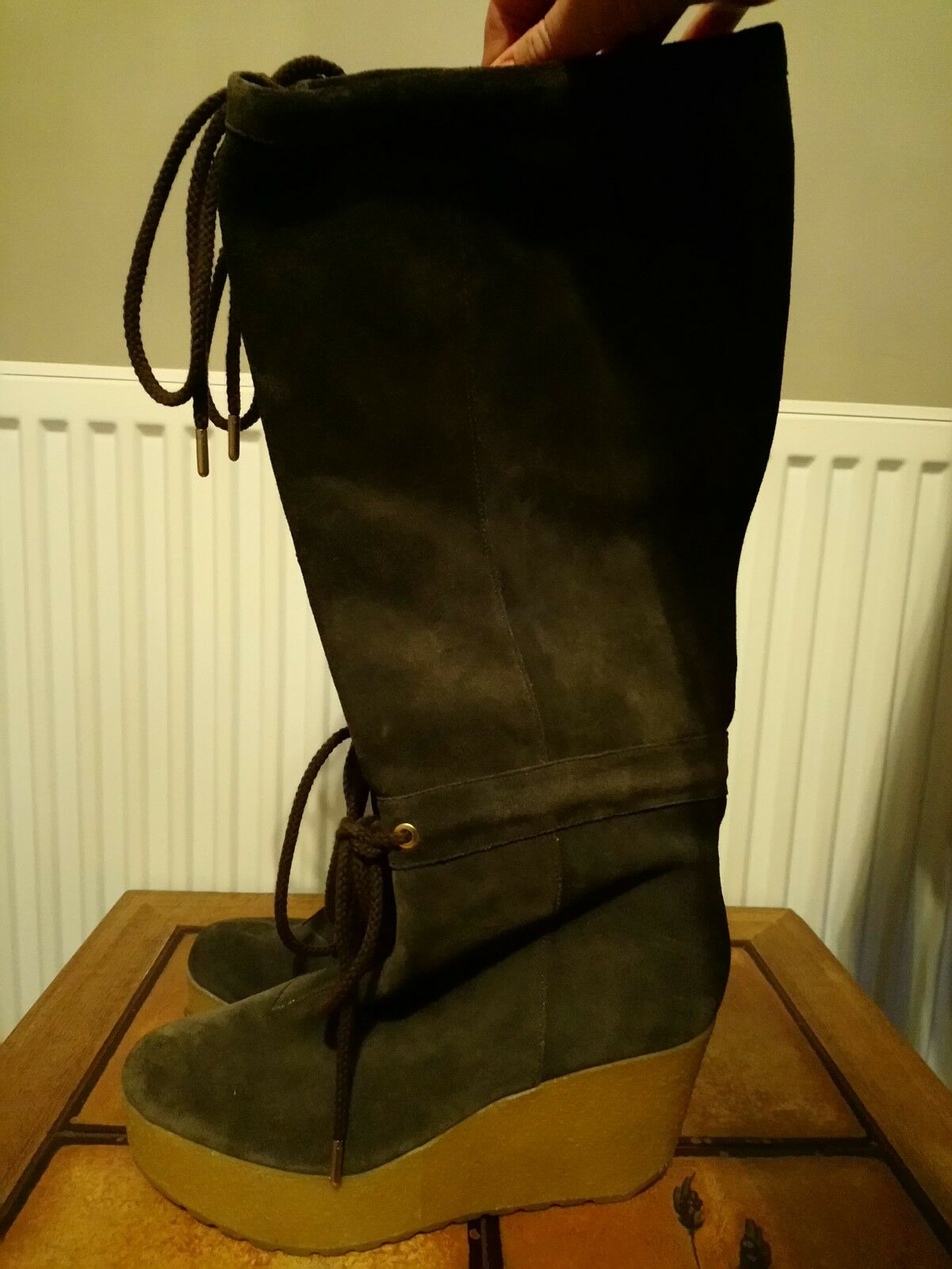 ROCKPORT CEDRA SCRUNCHED Tall GREY BOOTS  SIZE UK 6 EUR 39