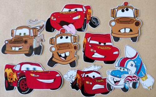 Tarjeta de selección de coches haciendo Toppers-Die Cuts 8 Piezas Adornos