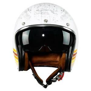 🔥3/4 Open Face Scooter Cafe Racer Motorcycle DOT Adult Helmet Sun Visor M-XXL