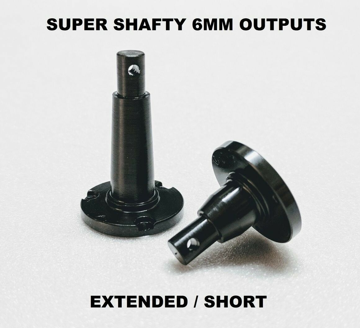 SuperShafty BOMBPROOF 6mm Scx10 extended & stubby Transmission Outputs axial